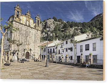 Grazalema Town Hall Square Wood Print