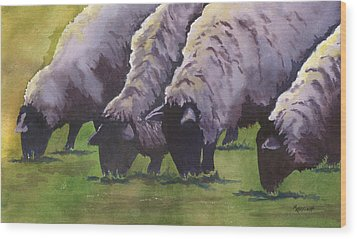 Grazing Wood Print by Marsha Elliott
