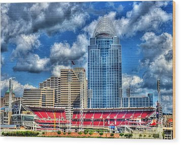 Great American Ballpark Wood Print by Mel Steinhauer