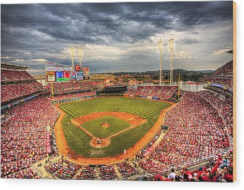 Great American Ballpark Wood Print by Shawn Everhart