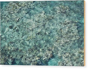 Great Barrier Reef Texture Wood Print