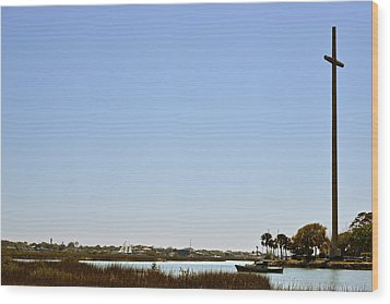 Great Cross - Nombre De Dios - St Augustine Wood Print by Christine Till