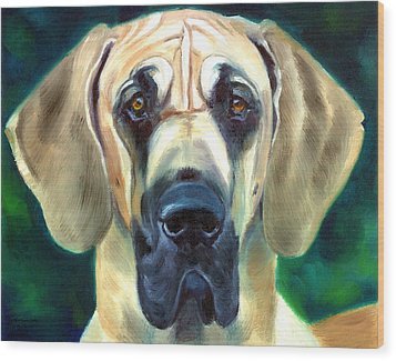 Great Dane Nobility Wood Print by Lyn Cook