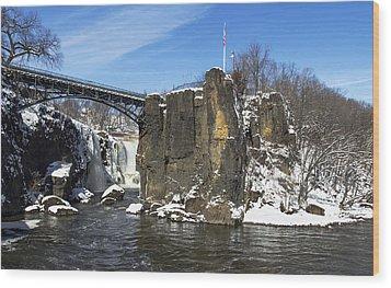 Great Falls In Color Wood Print