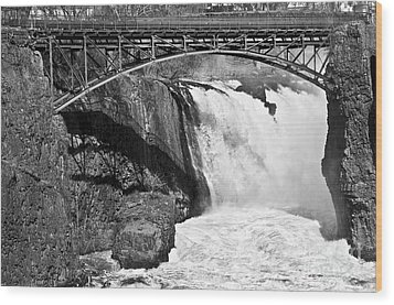 Great Falls In Paterson Nj Wood Print by Anthony Sacco