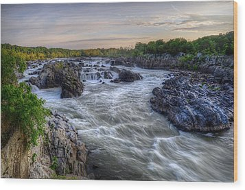 Wood Print featuring the photograph Great Falls  by Michael Donahue