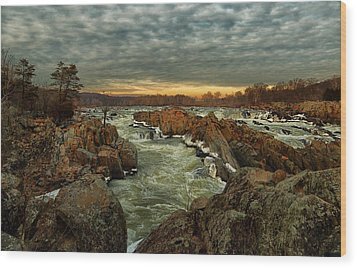 Great Falls Virginia Winter 2014 Wood Print