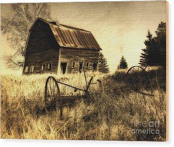 Great Grandfather's Barn II Wood Print