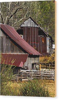Great Grandpa's Place Wood Print by Debra and Dave Vanderlaan