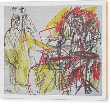 Great Jazz Wood Print by Gita Lloyd