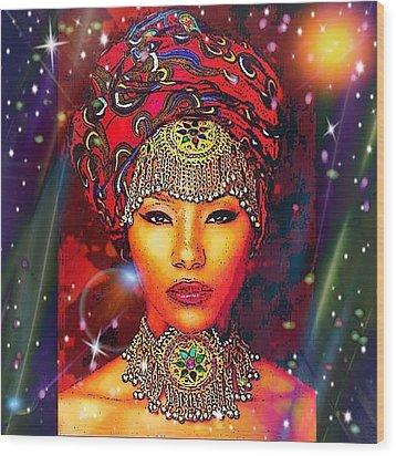 Great Lady Malkia Wood Print