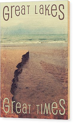 Great Lakes Great Times Wood Print by Michelle Calkins