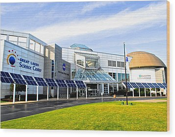 Great Lakes Science Center Wood Print by Frozen in Time Fine Art Photography
