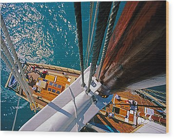 Great Lakes Tall Ship Wood Print by Dennis Cox WorldViews