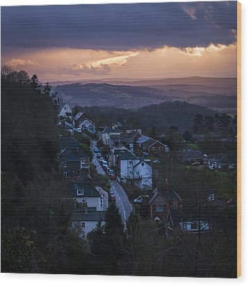 Wood Print featuring the photograph Great Malvern Sunset by David Isaacson