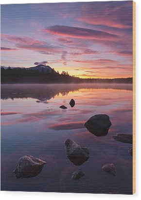 Wood Print featuring the photograph Great Mountain Sunrise by Patrick Downey