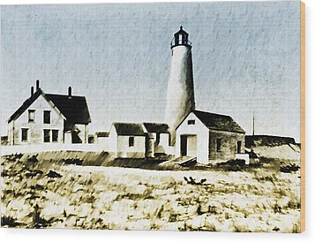 Great Point Lighthouse Nantucket Wood Print by Bill Cannon