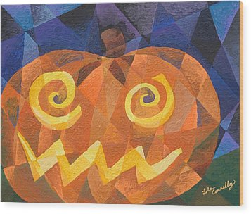 Great Pumpkin Wood Print by Lola Connelly