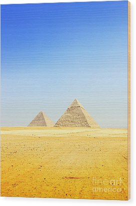 Great Pyramid Of Giza Wood Print by Mohamed Elkhamisy