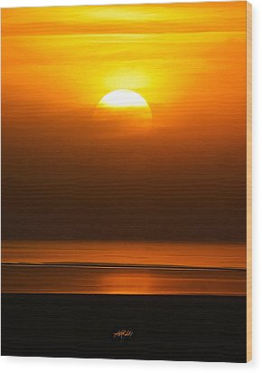 Great Salt Lake Sunset Wood Print by Kirk Strickland
