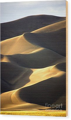 Great San Dunes - Sunset Wood Print by Douglas Taylor