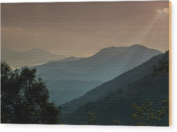 Great Smoky Mountains Blue Ridge Parkway Wood Print by Patti Deters