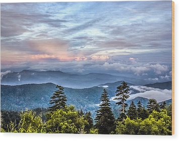 Wood Print featuring the photograph Great Smoky Mountains by Rob Sellers