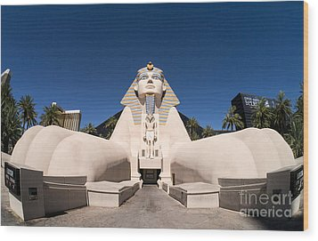 Great Sphinx Of Giza Luxor Resort Las Vegas Wood Print by Edward Fielding
