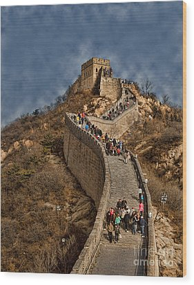 Wood Print featuring the photograph Great Wall O China by Shirley Mangini