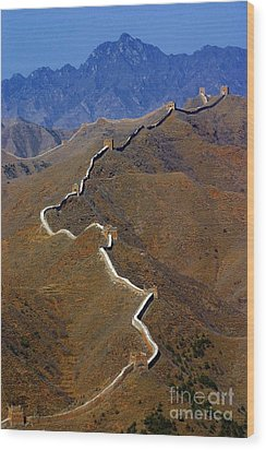 Great Wall Of China Wood Print by Henry Kowalski