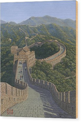 Great Wall Of China Mutianyu Section Wood Print by Richard Harpum