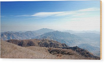 Wood Print featuring the photograph Great Wall Of China - Mutianyu by Yew Kwang