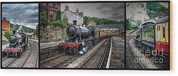 Great Western Locomotive Wood Print by Adrian Evans