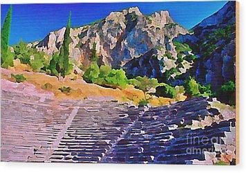 Greek Amphitheatre Wood Print by John Malone