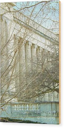 Wood Print featuring the photograph Greek Architecture by Brigitte Emme