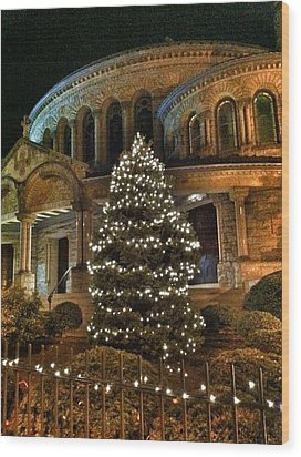 Greek Christmas Wood Print by Toni Martsoukos