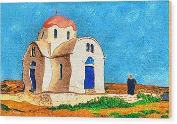 Greek Church 4a Wood Print by George Rossidis