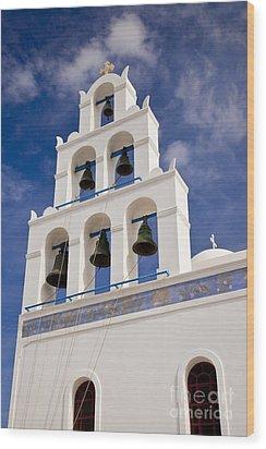 Greek Church Bells Wood Print by Brian Jannsen