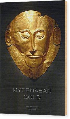 Greek Gold - Mycenaean Gold Wood Print by Helena Kay