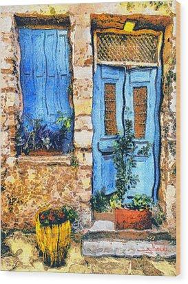 Greek House 66 Wood Print by George Rossidis