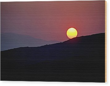 Greek Sunset Wood Print by Frits Selier