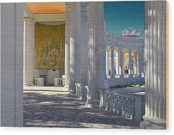 Greek Theatre 2 Wood Print by Angelina Vick