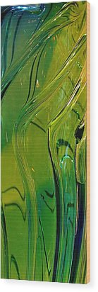 Green Abstract Wood Print by Bruce Bley