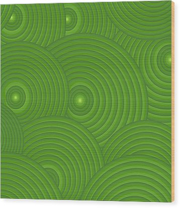Green Abstract Wood Print by Frank Tschakert