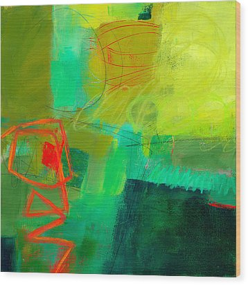 Green And Red #1 Wood Print by Jane Davies