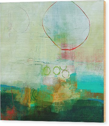Green And Red 6 Wood Print by Jane Davies