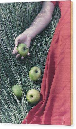 Green Apples Wood Print by Joana Kruse