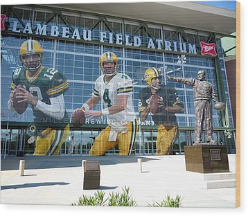 Green Bay Packers Lambeau Field Wood Print