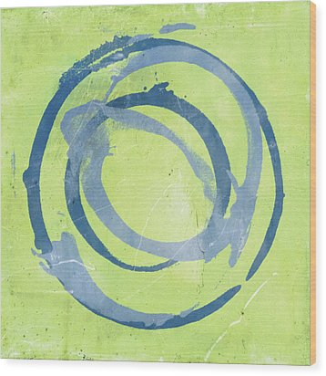 Wood Print featuring the painting Green Blue by Julie Niemela