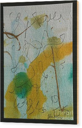 Green Circle Abstract Wood Print by Gloria Cooper